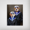 'The Sailors' Personalized 2 Pet Poster