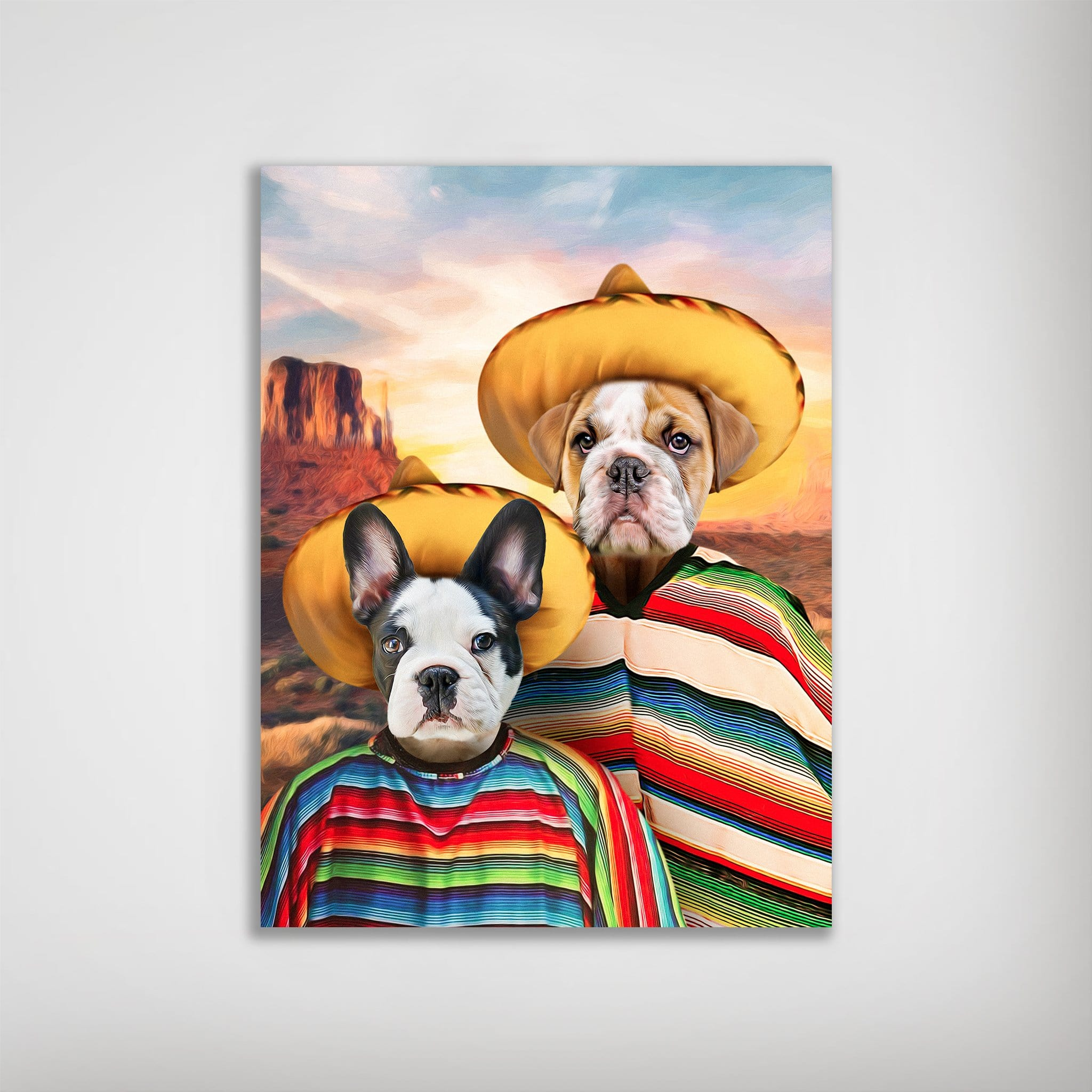 '2 Amigos' Personalized 2 Pet Poster