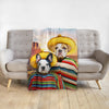'2 Amigos' Personalized 2 Pet Blanket