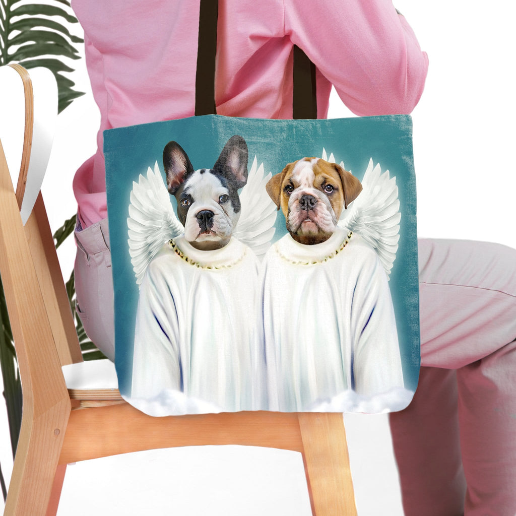 '2 Angels' Personalized 2 Pet Tote Bag
