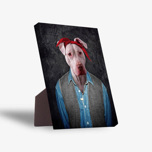 '2Pac Dogkur' Personalized Pet Standing Canvas