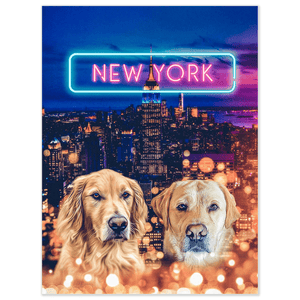 'Doggos of New York' Personalized 2 Pet Poster