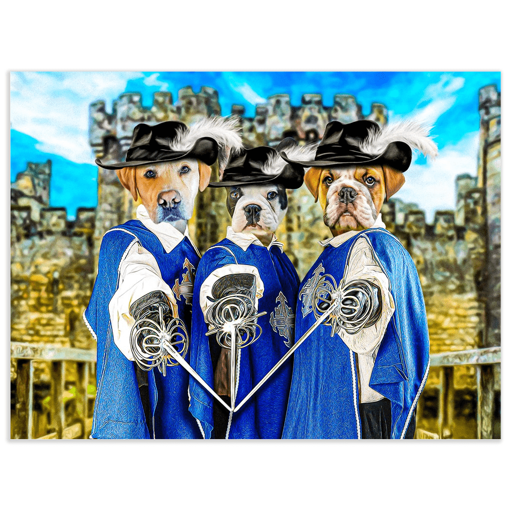 '3 Musketeers' Personalized 3 Pet Poster