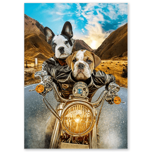 'Harley Wooferson' Personalized 2 Pet Poster
