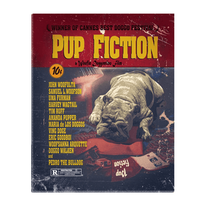 'Pup Fiction' Personalized Pet Standing Canvas