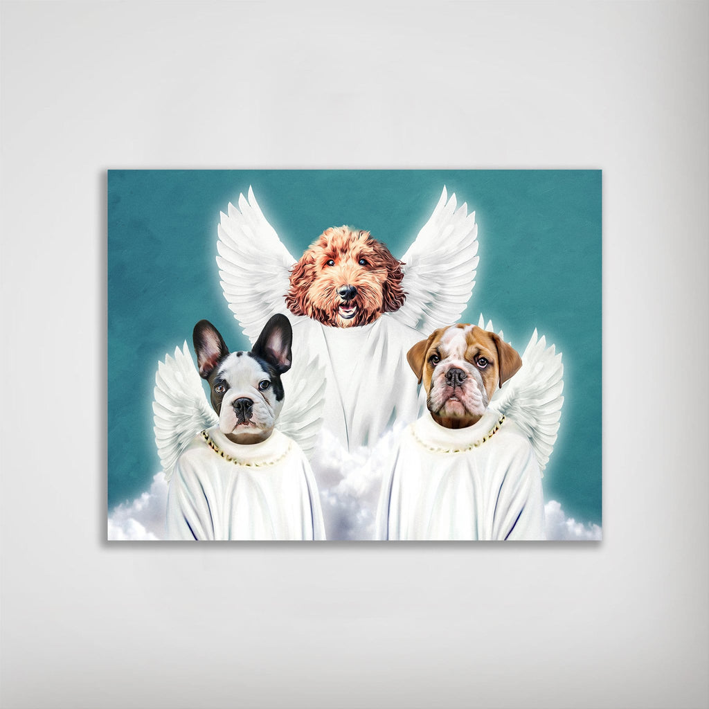 '3 Angels' Personalized 3 Pet Poster