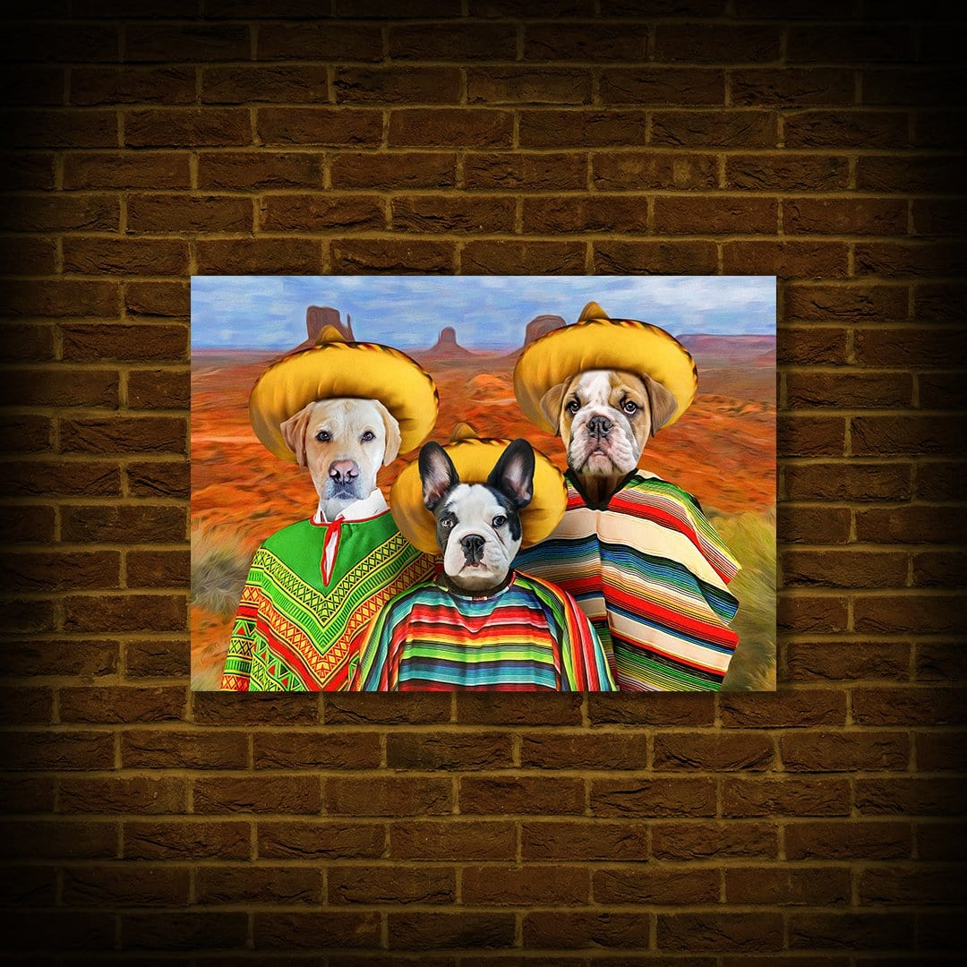 '3 Amigos' Personalized 3 Pet Poster