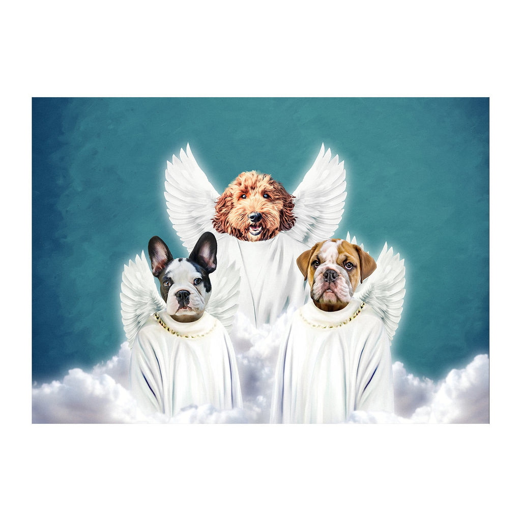 '3 Angels' 3 Pet Digital Portrait