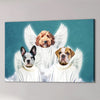 '3 Angels' Personalized Pet Canvas