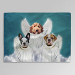 '3 Angels' Personalized 3 Pet Blanket