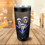 The Sailors Personalized 3 Pet Tumbler