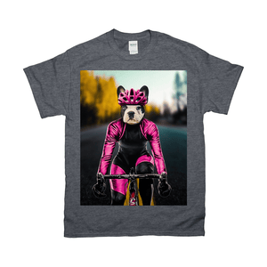 'The Female Cyclist' Personalized Pet T-Shirt