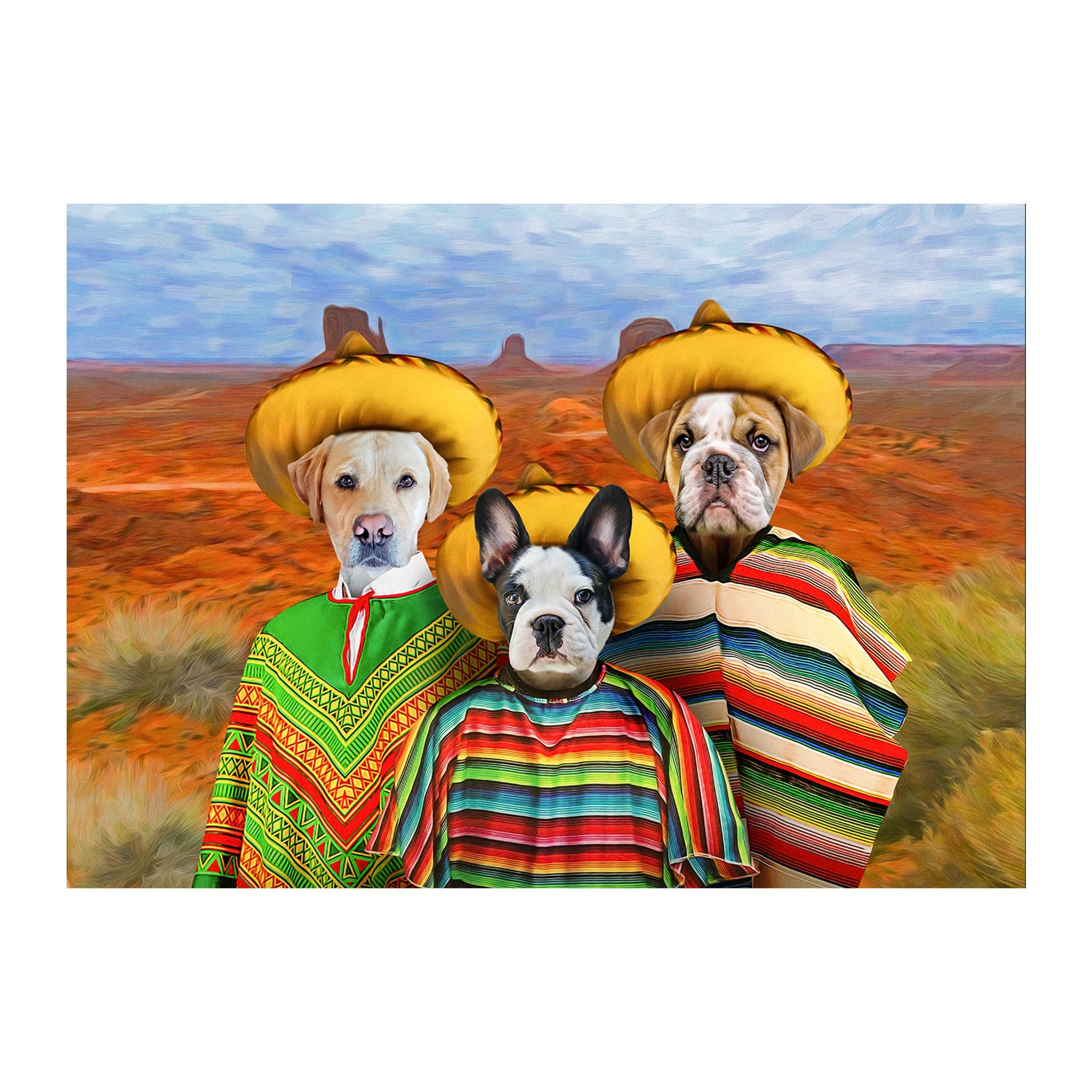 '3 Amigos' 3 Pet Digital Portrait