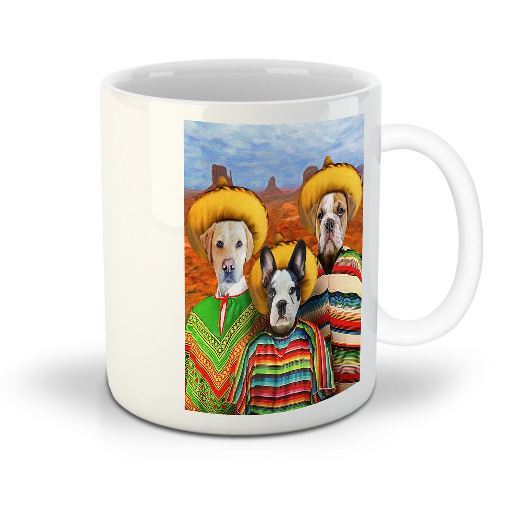 '3 Amigos' Personalized 3 Pet Mug
