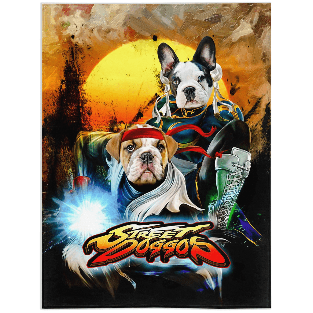 'Street Doggos 2' Personalized 2 Pet Blanket