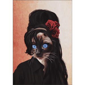 'Amy Cathouse' Personalized Pet Poster