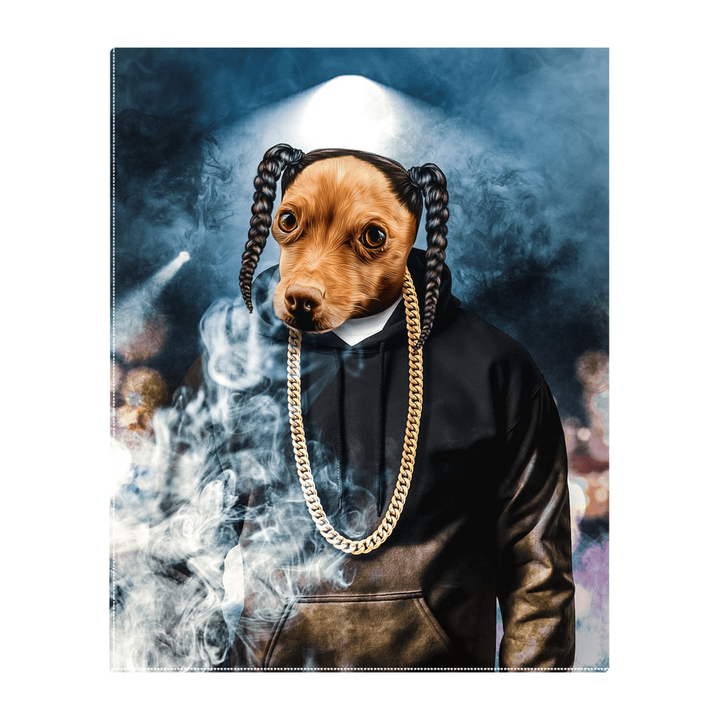 'D.O. Double G' Personalized Pet Standing Canvas