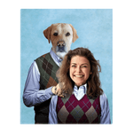 'Step Doggo & Human (Female)' Personalized Standing Canvas
