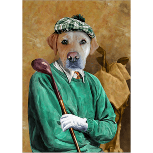 'The Golfer' Personalized Dog Poster