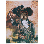 'The Pirate' Personalized Pet Blanket