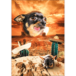 'Mexican Desert' Personalized Pet Posters