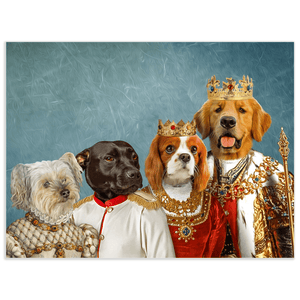 'The Royal Family' Personalized 4 Pet Poster