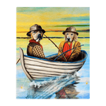 'The Fishermen' Personalized 2 Pet Standing Canvas