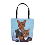 'Step Kitties' Personalized 2 Pet Tote Bag