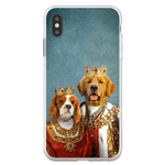 'King and Queen' Personalized 2 Pets Phone Case