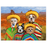 '4 amigos' Personalized 4 Pet Poster