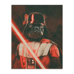'Darth Woofer' Personalized Pet Standing Canvas