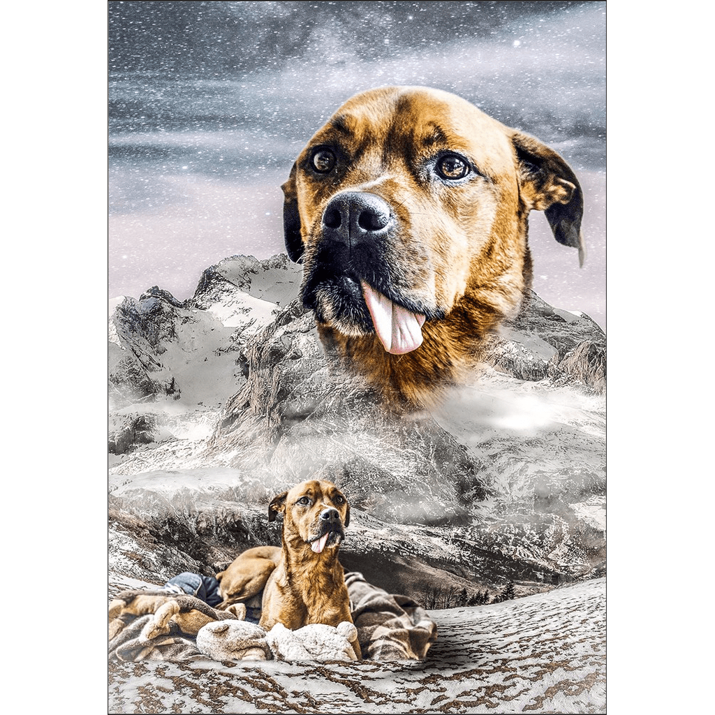 'Majestic Snowy Mountain' Personalized Poster