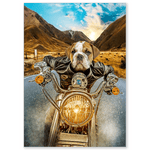 'Harley Wooferson' Personalized Dog Poster