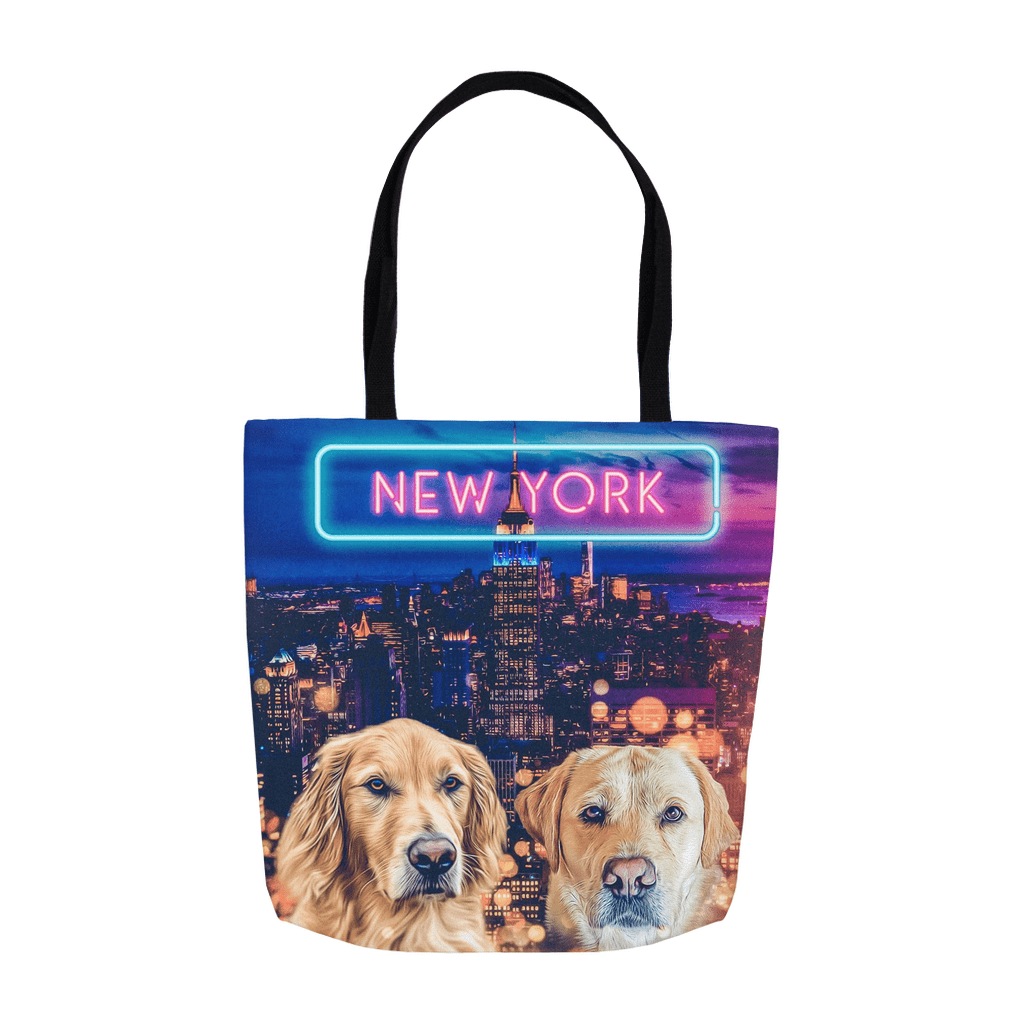 'Doggos of New York' Personalized 2 Pet Tote Bag