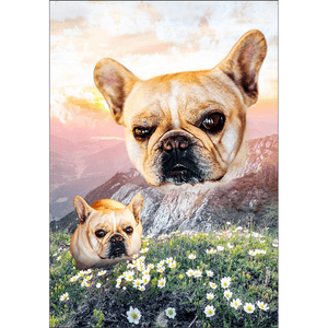 'Majestic Mountain Valley' Personalized Posters