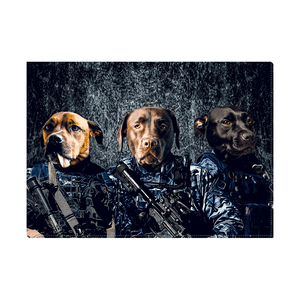 'The Navy Veterans' Personalized 3 Pet Standing Canvas