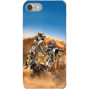 'The Motocross Riders' Personalized 3 Pet Phone Case