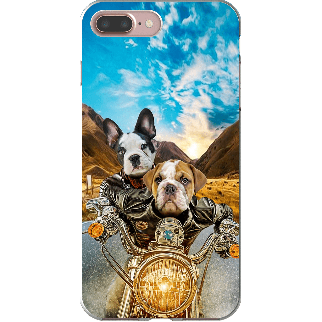 'Harley Wooferson' Personalized 2 Pets Phone Case