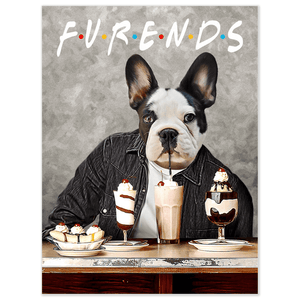 'Furends' Personalized Dog Poster