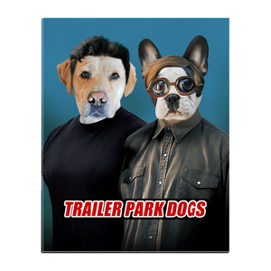 'Trailer Park Dogs 1' Personalized 2 Pet Standing Canvas