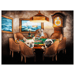 'The Poker Players' Personalized 3 Pet Poster