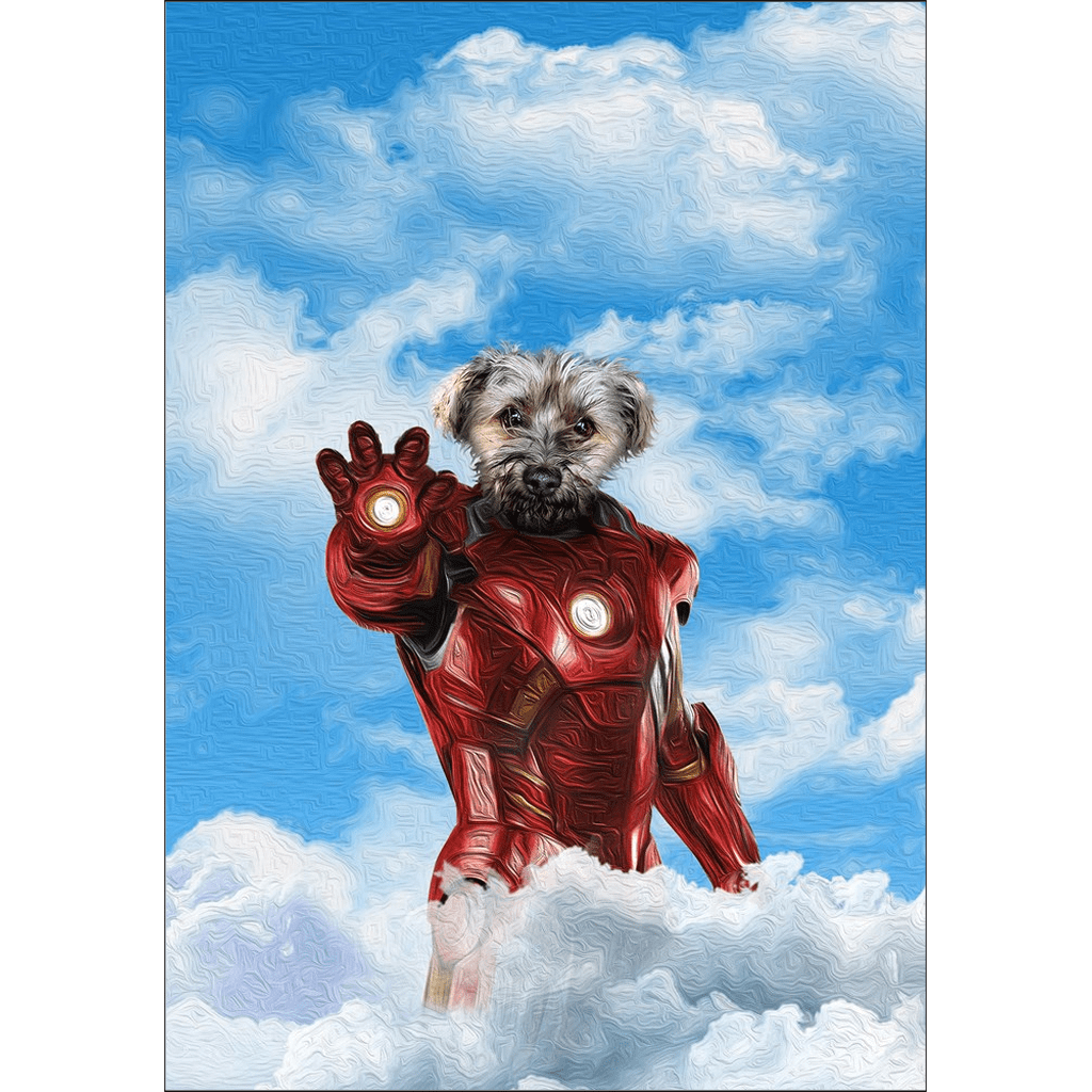 'The Iron Doggo' Personalized Dog Poster
