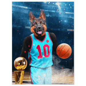 'The Basketball Player' Personalized Pet Poster