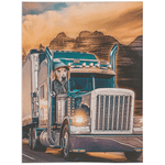 'The Trucker' Personalized Pet Blanket