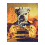 'Barking Bad' Personalized Pet Standing Canvas