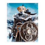 'Viking Warrior' Personalized Pet Standing Canvas