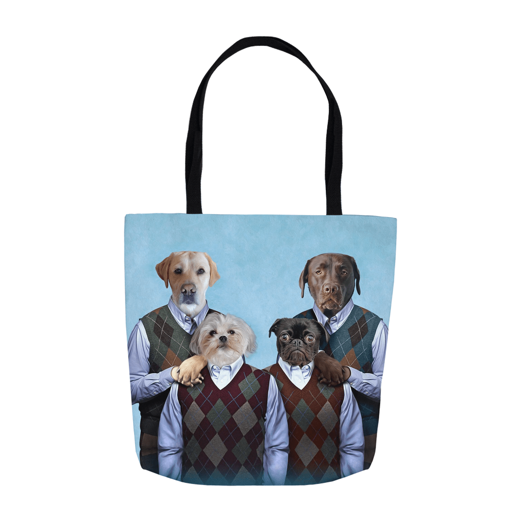'Step Doggos and Doggette' Personalized 4 Pet Tote Bag