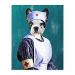 'The Nurse' Personalized Pet Standing Canvas