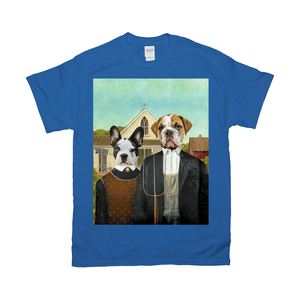 'American Pawthic' Personalized 2 Pet T-Shirt