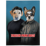 'Trailer Park Dogs' Personalized 2 Pet Blanket